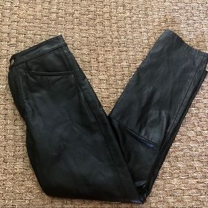 Wilsons Leather Pants - High waisted Wilsons leather pants